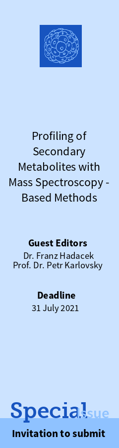 Special edition of Cells (MDPI): Profiling Secondary Metabolites with MS-based Methods